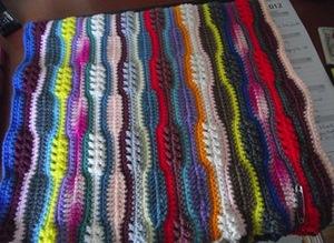 Ribbons Scrap Afghan